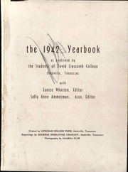 Page 7, 1942 Edition, Lipscomb University - Backlog Yearbook (Nashville, TN) online yearbook collection