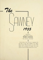 Page 5, 1955 Edition, Webb School - Sawney Yearbook (Bell Buckle, TN) online yearbook collection