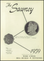 Page 5, 1959 Edition, Webb School - Sawney Yearbook (Bell Buckle, TN) online yearbook collection