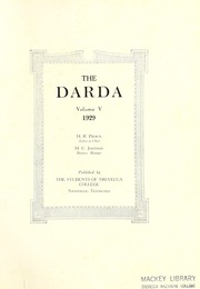 Page 5, 1929 Edition, Trevecca Nazarene University - Darda Yearbook (Nashville, TN) online yearbook collection
