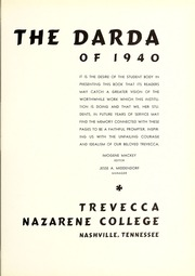 Page 7, 1940 Edition, Trevecca Nazarene University - Darda Yearbook (Nashville, TN) online yearbook collection