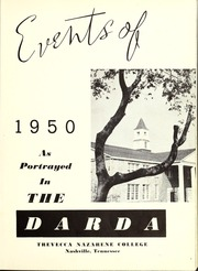 Page 5, 1950 Edition, Trevecca Nazarene University - Darda Yearbook (Nashville, TN) online yearbook collection