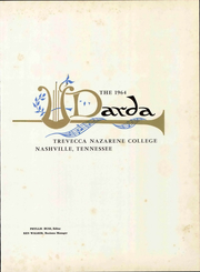 Page 7, 1964 Edition, Trevecca Nazarene University - Darda Yearbook (Nashville, TN) online yearbook collection