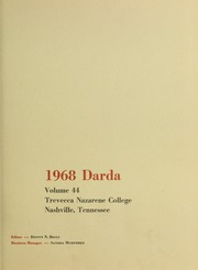 Page 5, 1968 Edition, Trevecca Nazarene University - Darda Yearbook (Nashville, TN) online yearbook collection