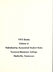 Page 5, 1975 Edition, Trevecca Nazarene University - Darda Yearbook (Nashville, TN) online yearbook collection