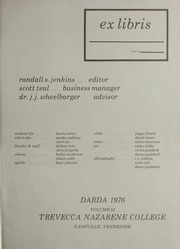 Page 5, 1976 Edition, Trevecca Nazarene University - Darda Yearbook (Nashville, TN) online yearbook collection