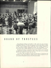 Page 16, 1960 Edition, Carson Newman College - Appalachian Yearbook (Jefferson City, TN) online yearbook collection