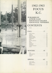 Page 7, 1963 Edition, Knoxville College - Focus Yearbook (Knoxville, TN) online yearbook collection
