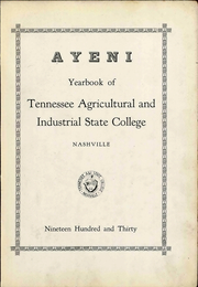 Page 9, 1930 Edition, Tennessee State University - Tennessean Yearbook (Nashville, TN) online yearbook collection
