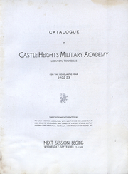 Page 4, 1922 Edition, Castle Heights Military Academy - Yearbook (Lebanon, TN) online yearbook collection