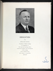 Page 7, 1937 Edition, Martin Methodist College - Spinster Yearbook (Pulaski, TN) online yearbook collection