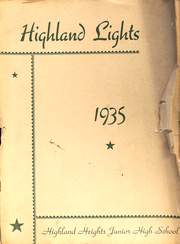 Page 1, 1935 Edition, Highland Heigts Junior High School - Lights Yearbook (Nashville, TN) online yearbook collection