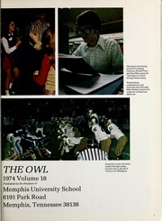Page 5, 1974 Edition, Memphis University School - Owl Yearbook (Memphis, TN) online yearbook collection