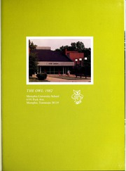 Page 5, 1982 Edition, Memphis University School - Owl Yearbook (Memphis, TN) online yearbook collection