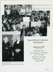 Page 5, 1999 Edition, Sacred Heart Cathedral Preparatory - Shamrock Yearbook (San Francisco, CA) online yearbook collection