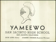 Page 5, 1951 Edition, San Jacinto High School - Yameewo Yearbook (San Jacinto, CA) online yearbook collection