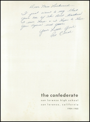 Page 5, 1955 Edition, San Lorenzo High School - Confederate Yearbook (San Lorenzo, CA) online yearbook collection