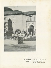 Page 5, 1955 Edition, Mission High School - El Camino Yearbook (San Luis Obispo, CA) online yearbook collection