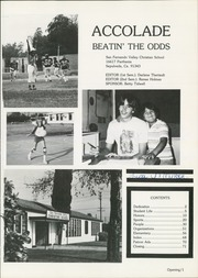 Page 5, 1983 Edition, San Fernando Valley Christian High School - Accolade Yearbook (North Hills, CA) online yearbook collection