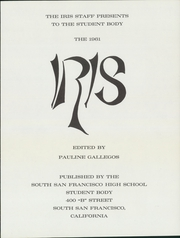 Page 5, 1961 Edition, South San Francisco High School - Iris Yearbook (South San Francisco, CA) online yearbook collection