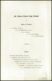 Page 8, 1922 Edition, St Helena High School - Silverado Yearbook (St Helena, CA) online yearbook collection