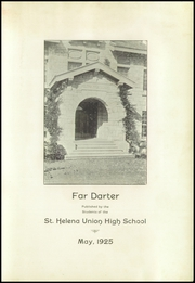 Page 5, 1925 Edition, St Helena High School - Silverado Yearbook (St Helena, CA) online yearbook collection