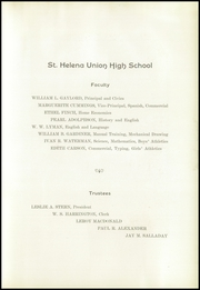 Page 9, 1925 Edition, St Helena High School - Silverado Yearbook (St Helena, CA) online yearbook collection