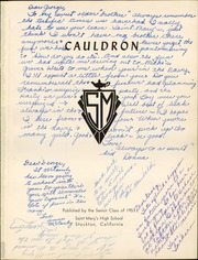 Page 5, 1953 Edition, St Marys High School - Cauldron Yearbook (Stockton, CA) online yearbook collection