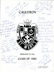 Page 9, 1964 Edition, St Marys High School - Cauldron Yearbook (Stockton, CA) online yearbook collection
