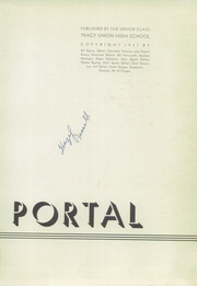 Page 7, 1937 Edition, Tracy High School - El Portal Yearbook (Tracy, CA) online yearbook collection