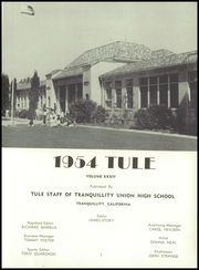 Page 7, 1954 Edition, Tranquillity High School - Tule Yearbook (Tranquillity, CA) online yearbook collection