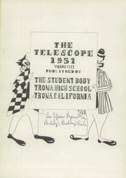 Page 5, 1951 Edition, Trona High School - Telescope Yearbook (Trona, CA) online yearbook collection
