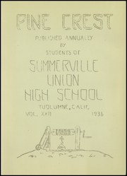 Page 7, 1936 Edition, Summerville Union High School - Pine Crest Yearbook (Tuolumne, CA) online yearbook collection