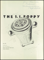 Page 5, 1952 Edition, Winters High School - Poppy Yearbook (Winters, CA) online yearbook collection