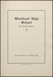 Page 5, 1925 Edition, Woodland High School - Ilex Yearbook (Woodland, CA) online yearbook collection