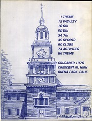 Page 5, 1976 Edition, Crescent Junior High School - Crusader Yearbook (Buena Park, CA) online yearbook collection