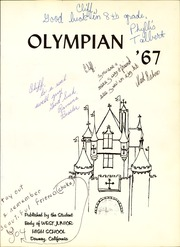 Page 5, 1967 Edition, West Middle School - Olympian Yearbook (Downey, CA) online yearbook collection