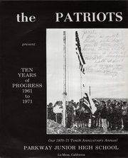 Page 6, 1971 Edition, Parkway Middle School - Parkway Patriots Yearbook (La Mesa, CA) online yearbook collection