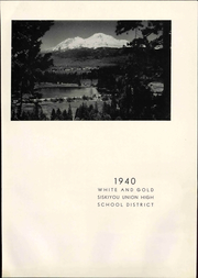 Page 7, 1940 Edition, Siskiyou Union High School - White and Gold Yearbook (Weed, CA) online yearbook collection