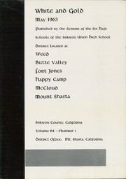 Page 7, 1963 Edition, Siskiyou Union High School - White and Gold Yearbook (Weed, CA) online yearbook collection