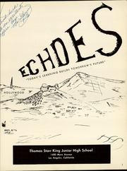 Page 3, 1957 Edition, Thomas Starr King Middle School - Echoes Yearbook (Los Angeles, CA) online yearbook collection