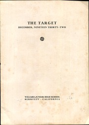 Page 3, 1932 Edition, Willard Middle School - Target Yearbook (Berkeley, CA) online yearbook collection