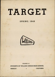 Page 3, 1948 Edition, Willard Middle School - Target Yearbook (Berkeley, CA) online yearbook collection
