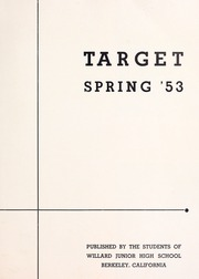 Page 3, 1953 Edition, Willard Middle School - Target Yearbook (Berkeley, CA) online yearbook collection
