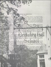 Page 3, 1966 Edition, Berkeley Hall School - Yearbook (Beverly Hills, CA) online yearbook collection