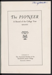 Page 5, 1925 Edition, Sacramento City College - Pioneer Yearbook (Sacramento, CA) online yearbook collection