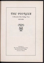 Page 5, 1926 Edition, Sacramento City College - Pioneer Yearbook (Sacramento, CA) online yearbook collection