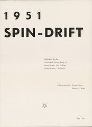 Page 7, 1951 Edition, Santa Monica College - Spin Drift Yearbook (Santa Monica, CA) online yearbook collection