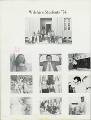 Page 14, 1974 Edition, Wilshire Junior High School - Reflections Yearbook (Fullerton, CA) online yearbook collection