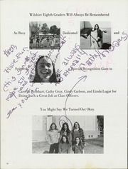 Page 16, 1974 Edition, Wilshire Junior High School - Reflections Yearbook (Fullerton, CA) online yearbook collection